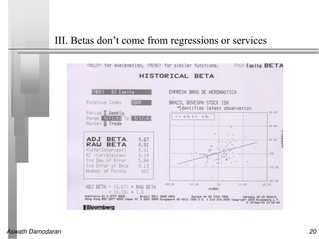 III. Betas don't come from regressions or services