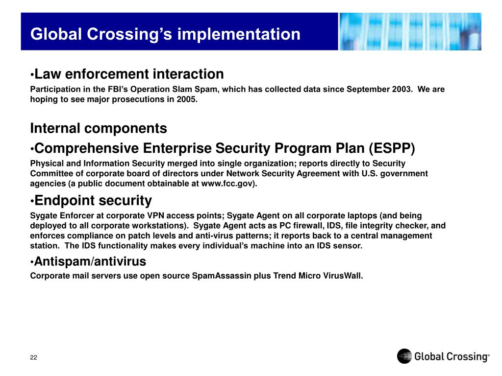 Global Crossing's implementation