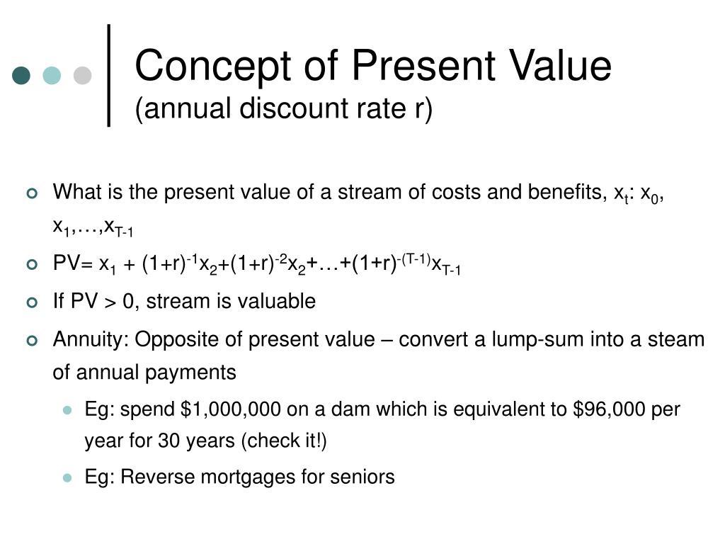 Concept of Present Value