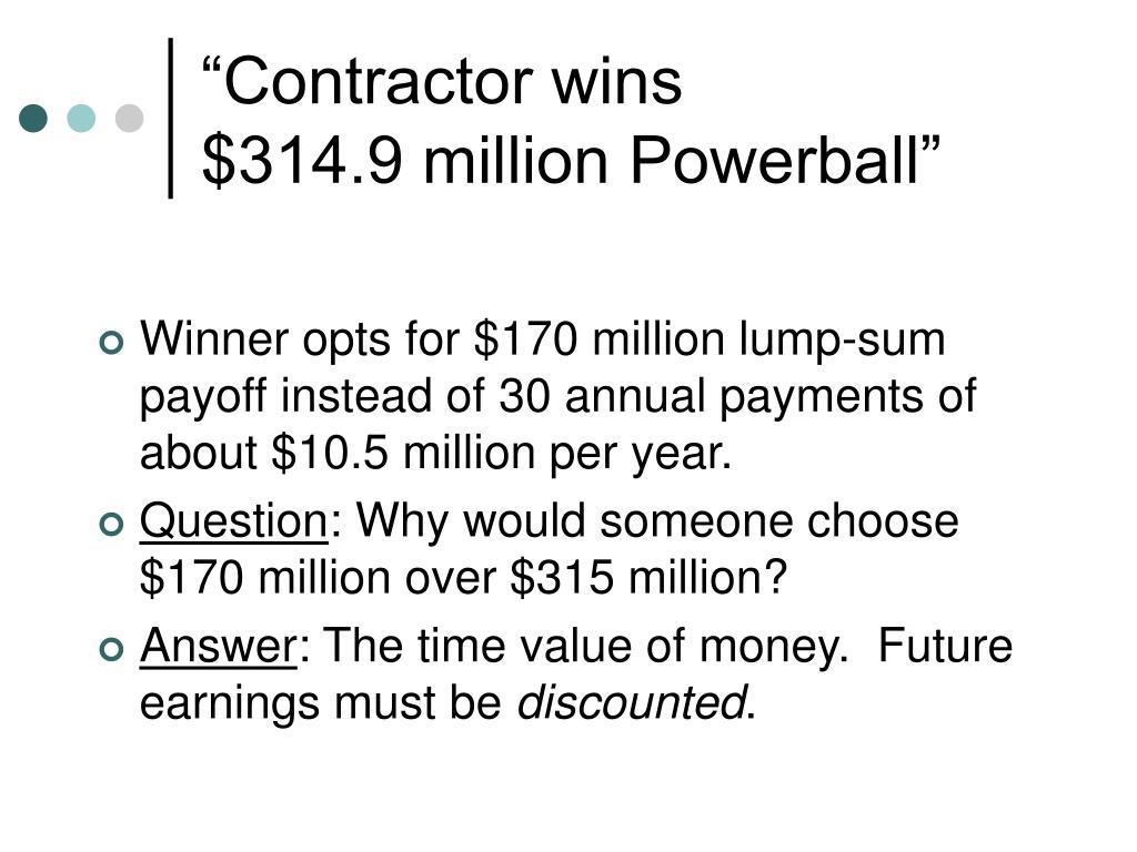 """""""Contractor wins"""