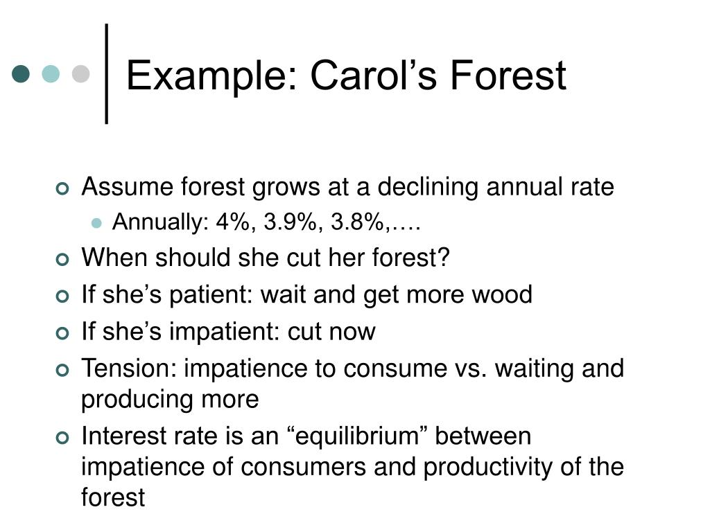 Example: Carol's Forest
