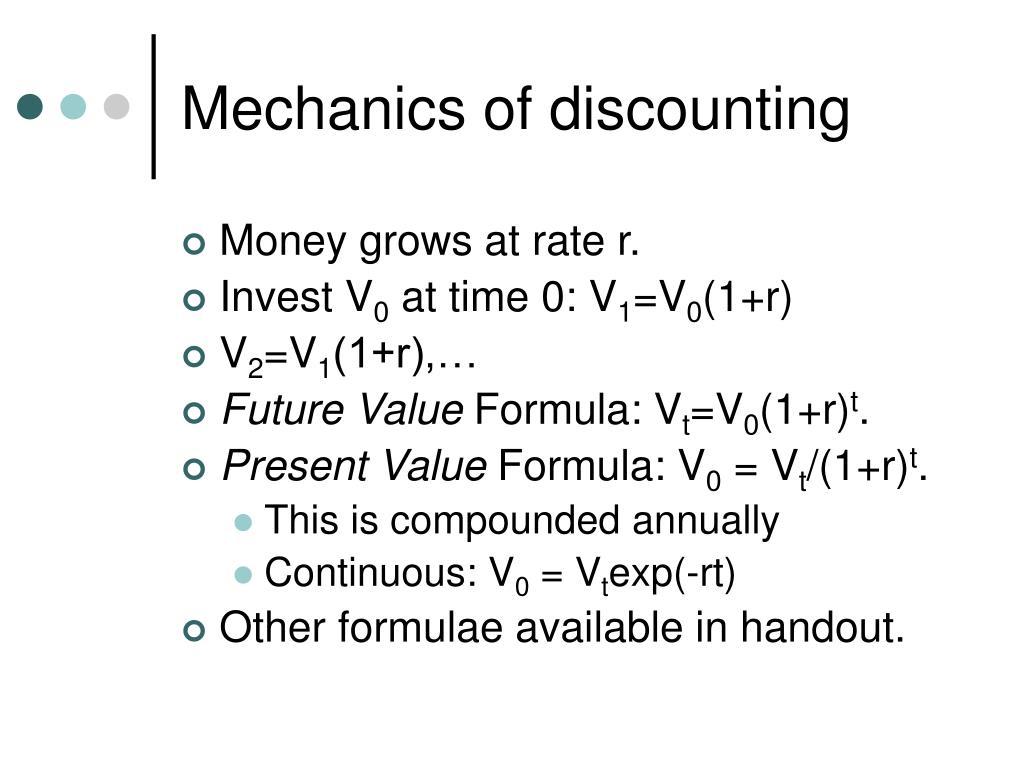 Mechanics of discounting