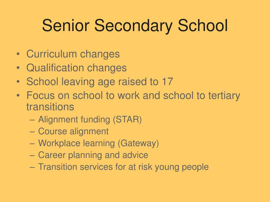 Senior Secondary School