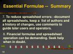 essential formulae summary18