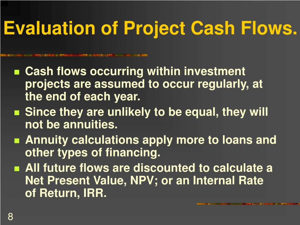 Evaluation of Project Cash Flows.
