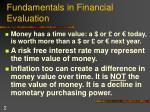 fundamentals in financial evaluation