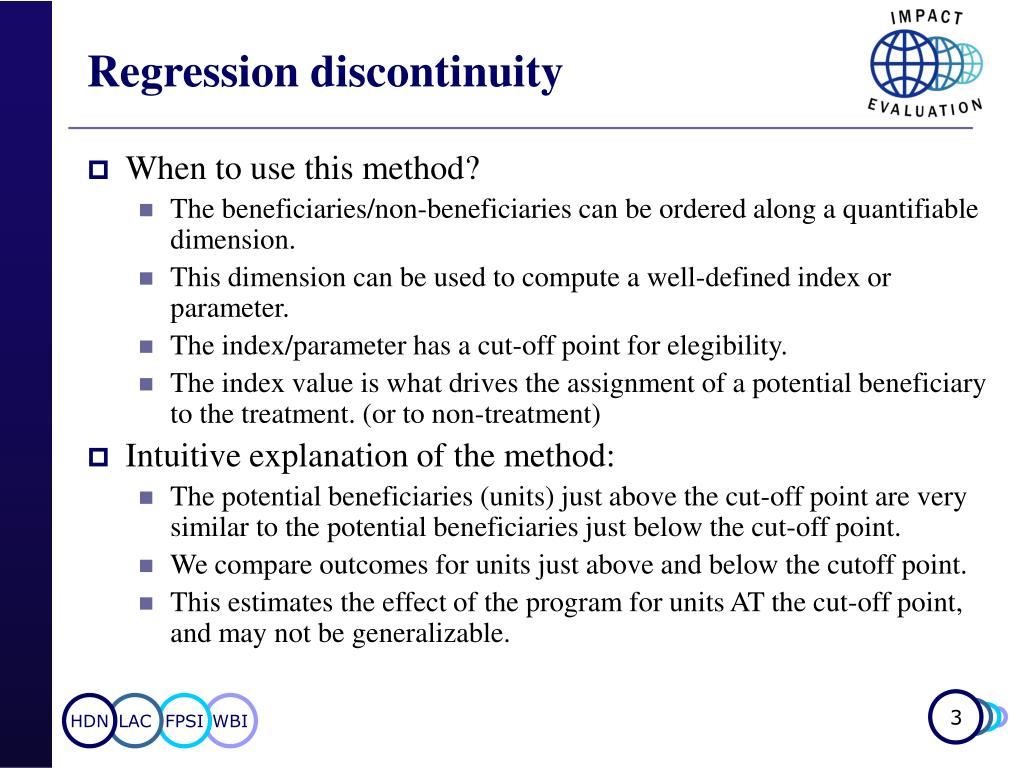 Regression discontinuity
