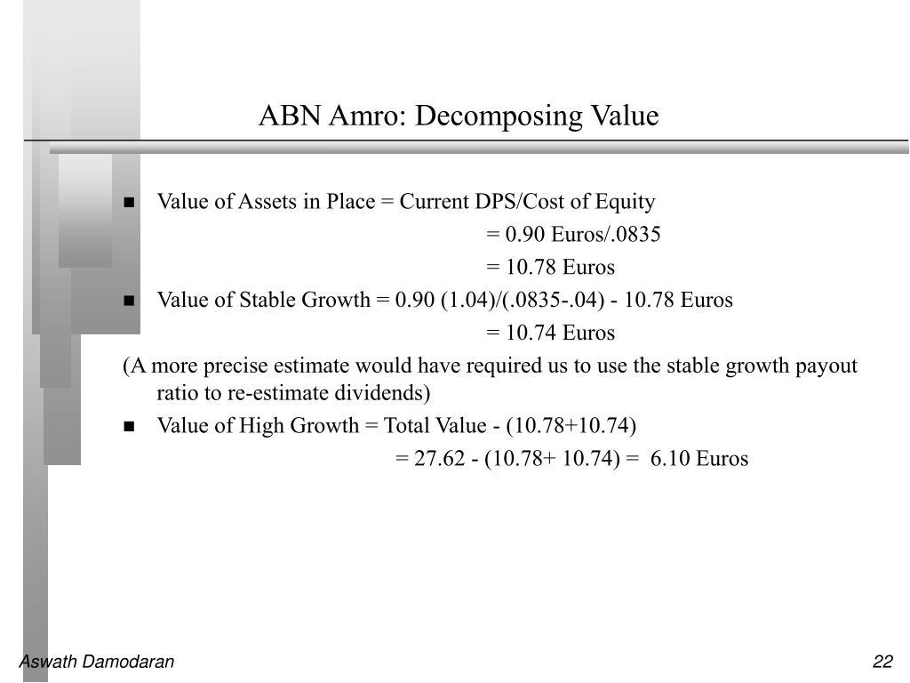 ABN Amro: Decomposing Value