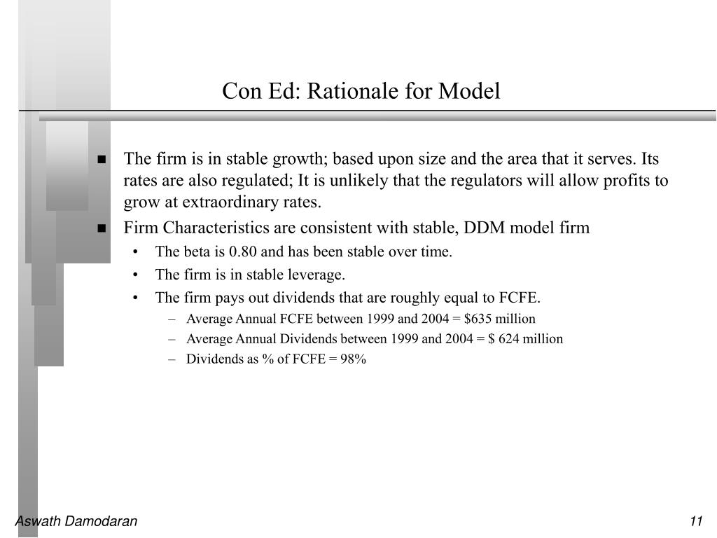 Con Ed: Rationale for Model