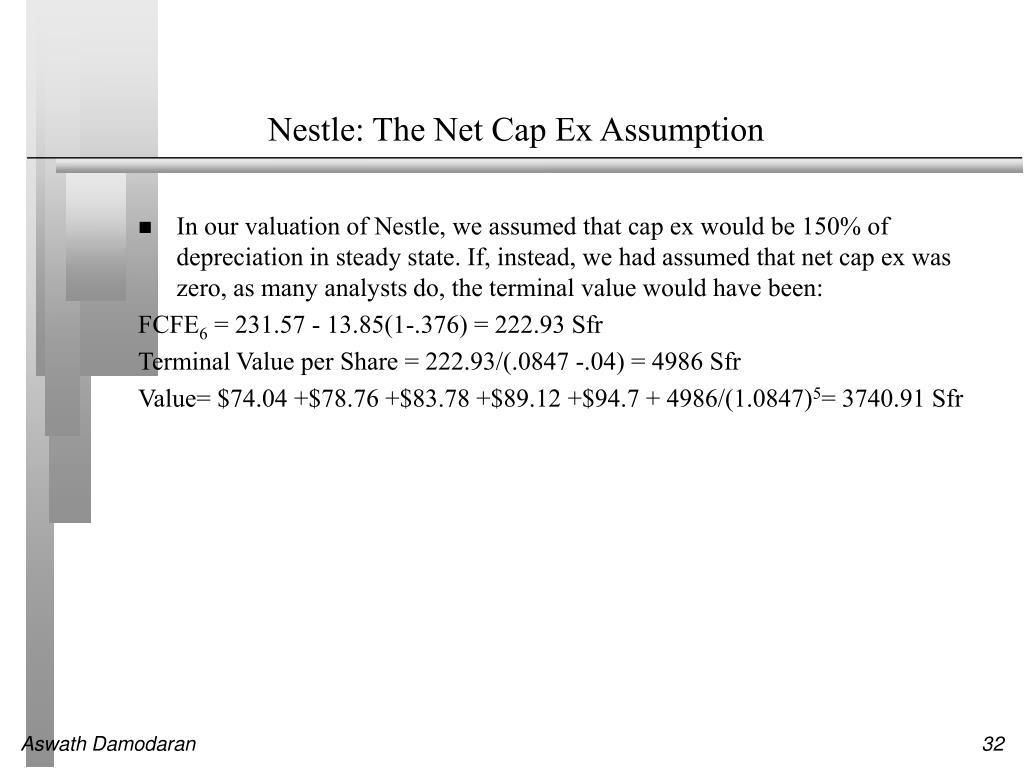 Nestle: The Net Cap Ex Assumption
