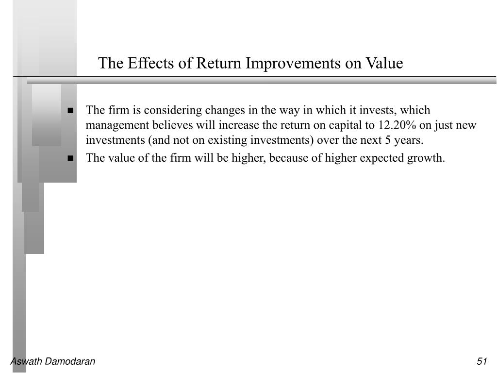 The Effects of Return Improvements on Value