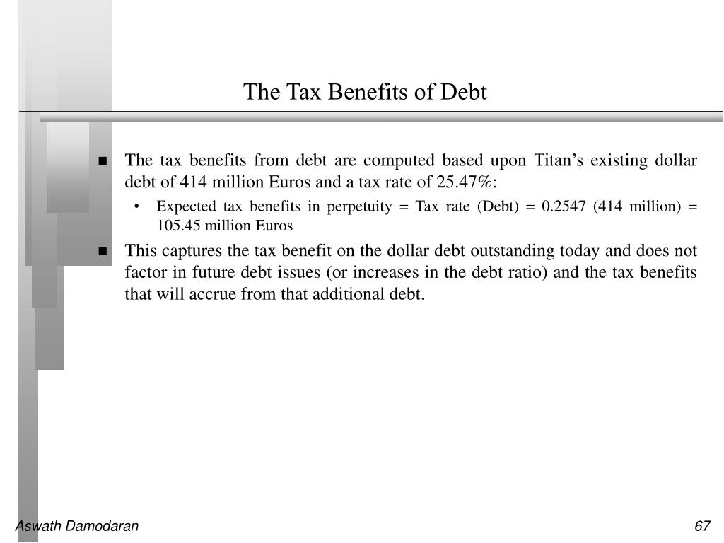 The Tax Benefits of Debt