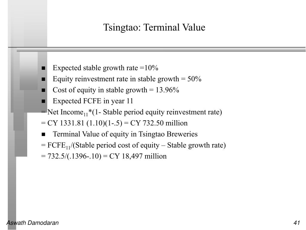 Tsingtao: Terminal Value