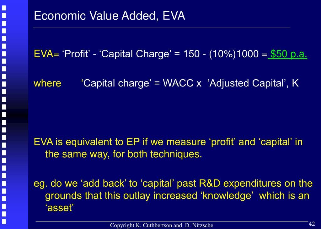 Economic Value Added, EVA