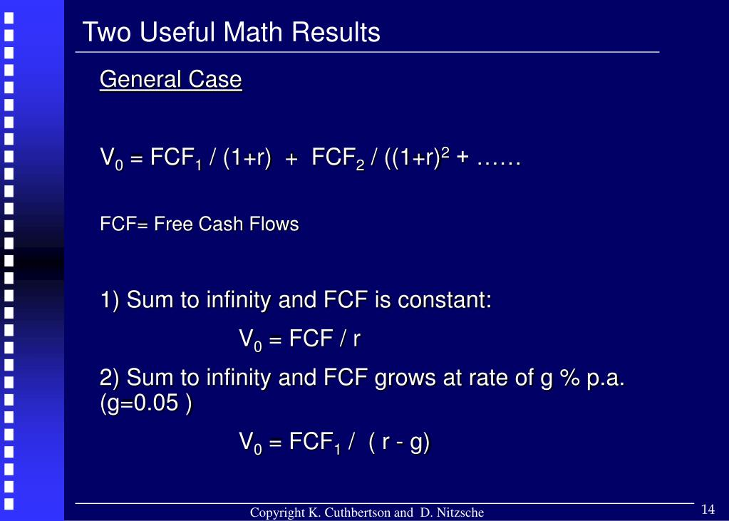 Two Useful Math Results