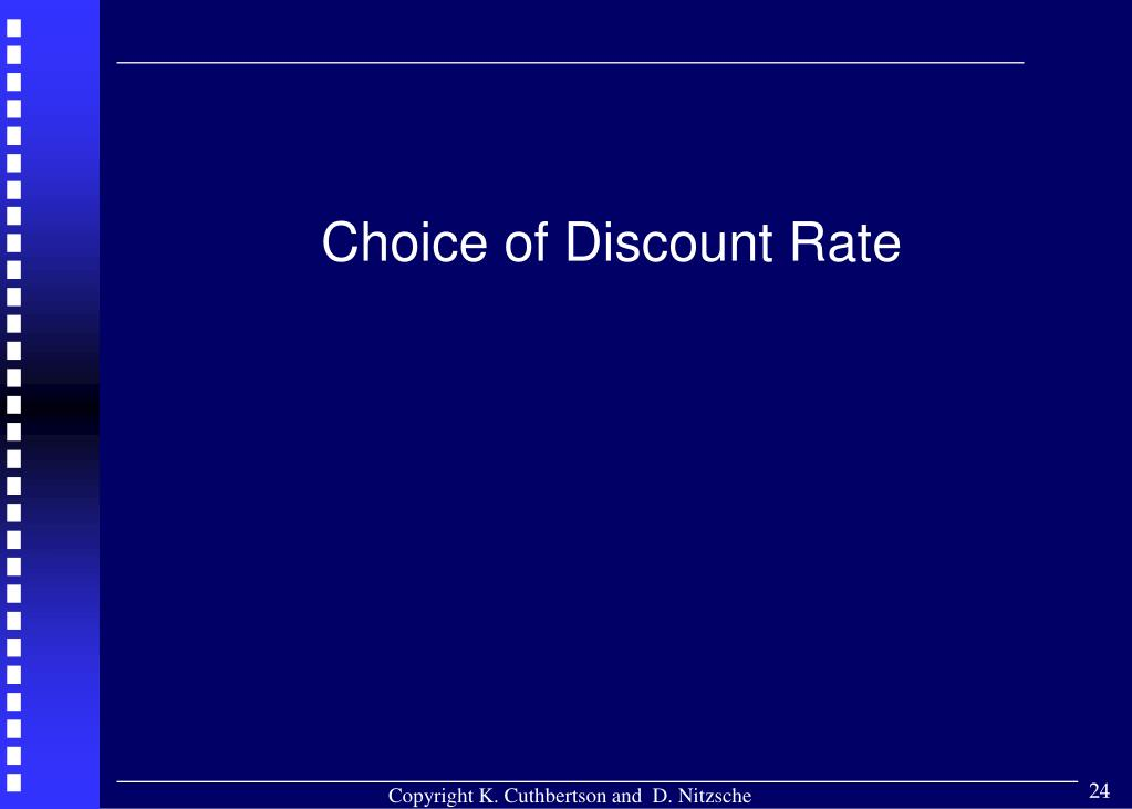 Choice of Discount Rate