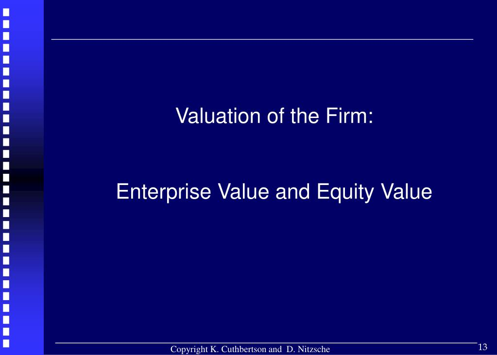 Valuation of the Firm: