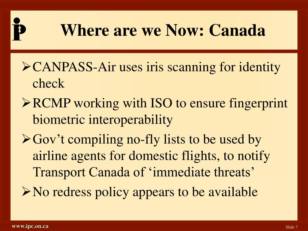 Where are we Now: Canada