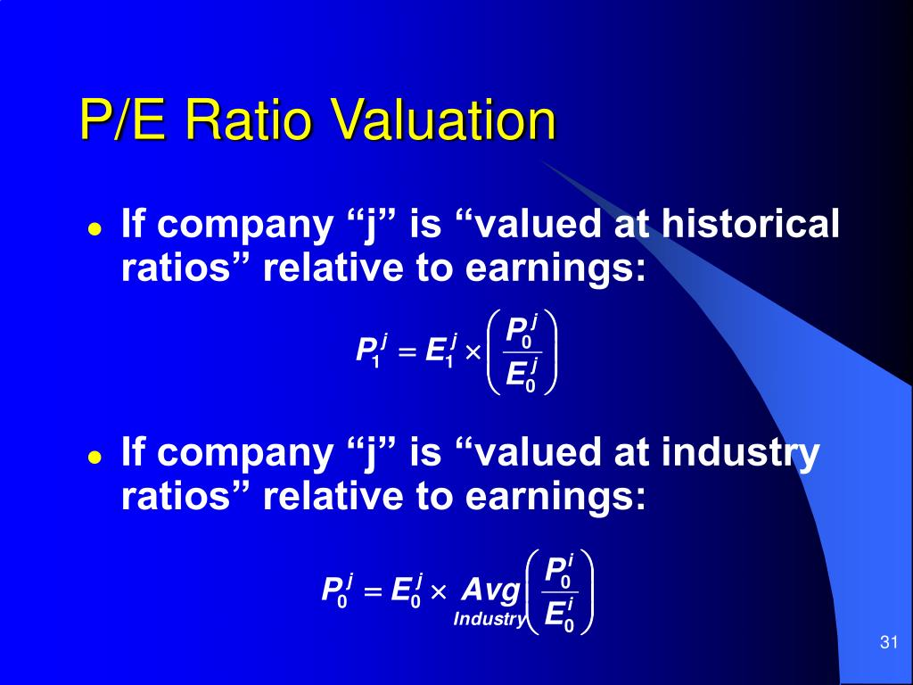 P/E Ratio Valuation