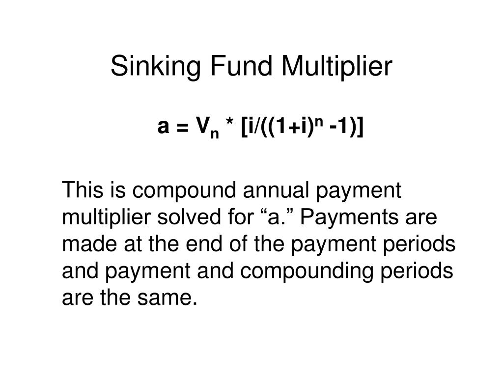 Sinking Fund Multiplier