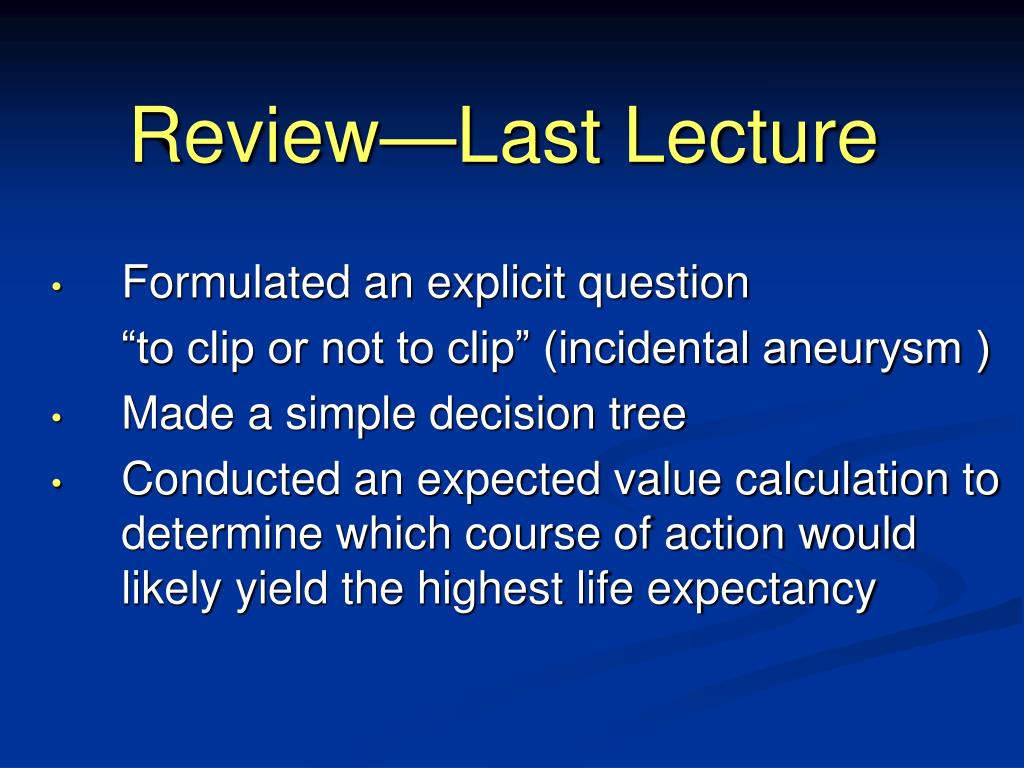 Review—Last Lecture
