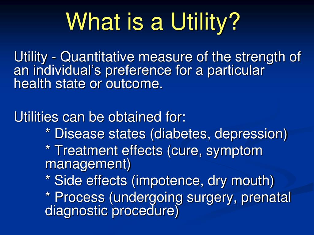 What is a Utility?