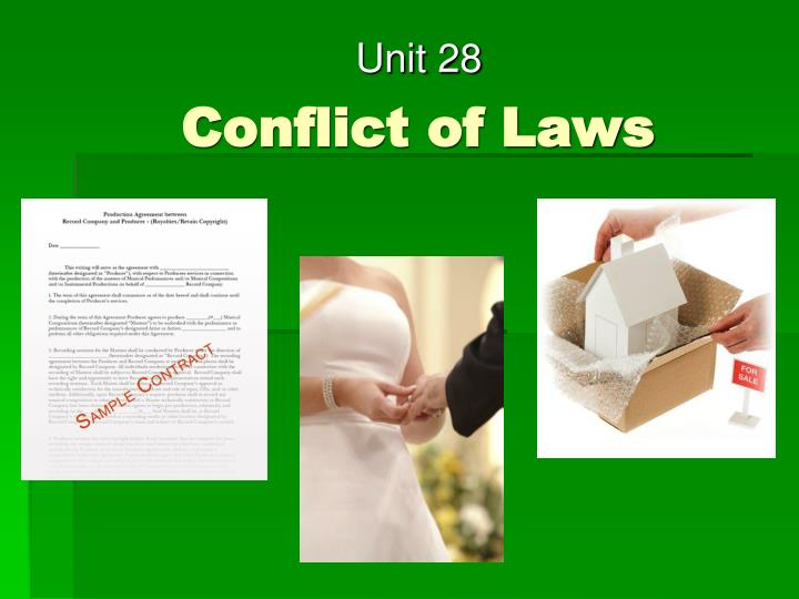 Conflict of laws l.jpg