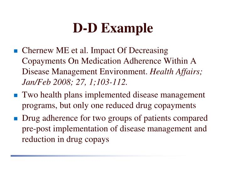 D-D Example