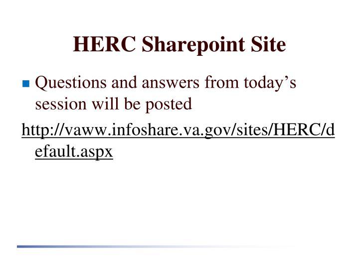 HERC Sharepoint Site