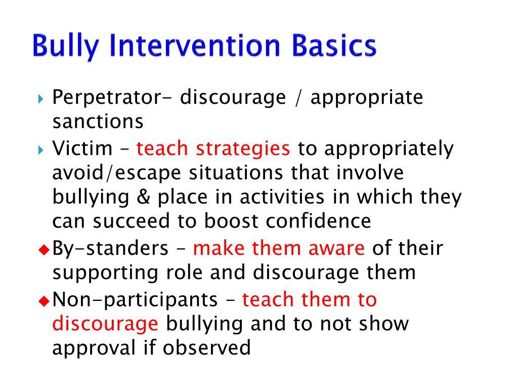 Bully Intervention Basics