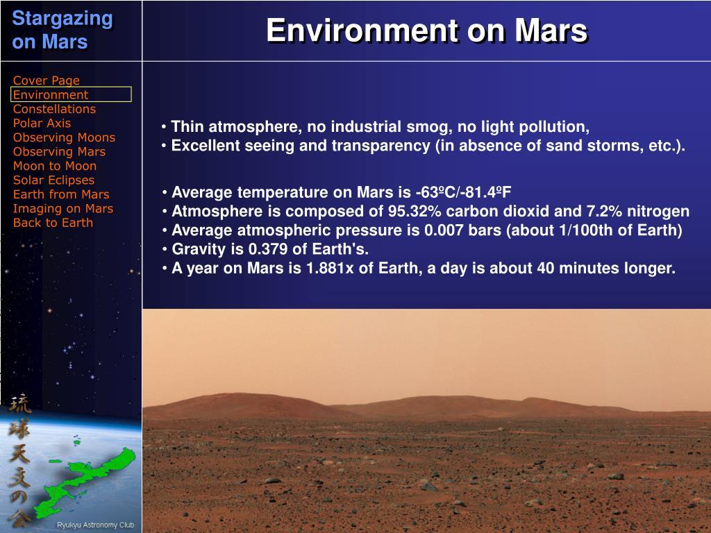 Environment on Mars