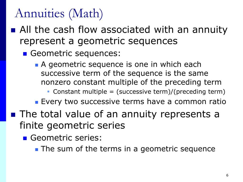 Annuities (Math)