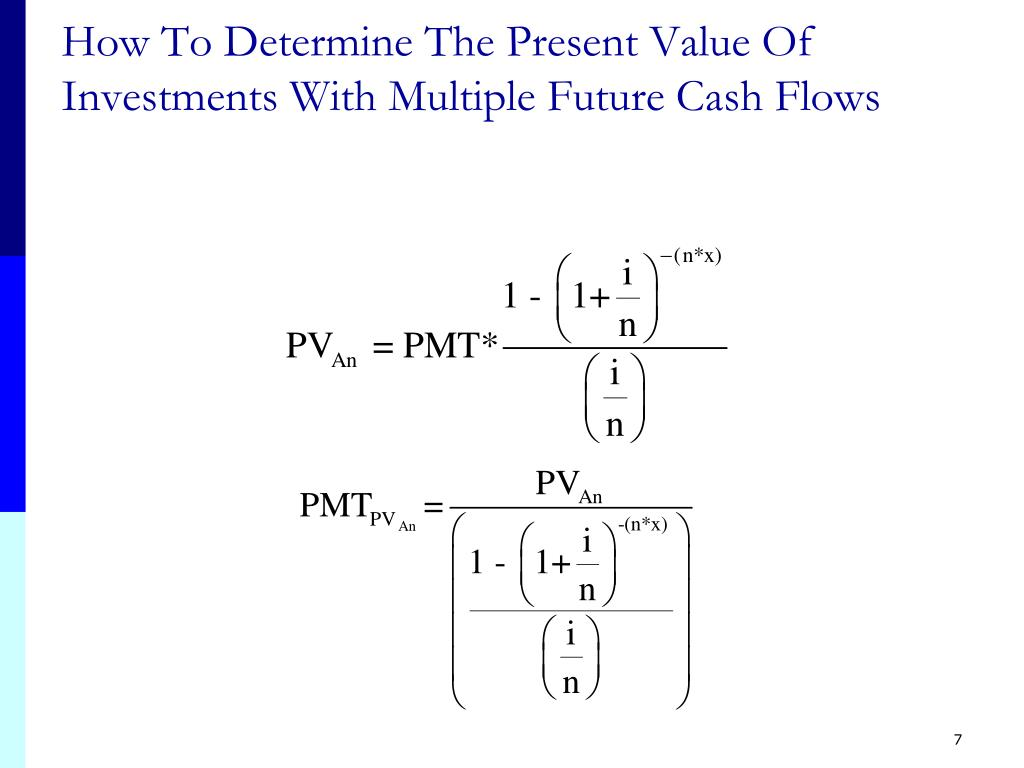 How To Determine The Present Value Of Investments With Multiple Future Cash Flows