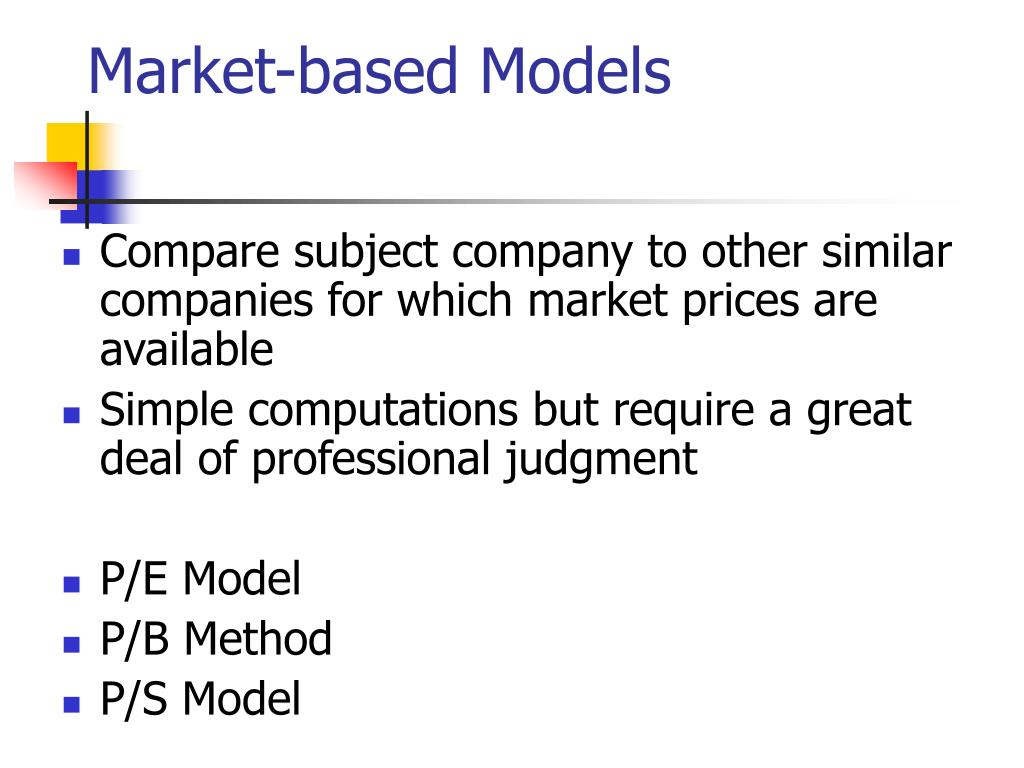 Market-based Models