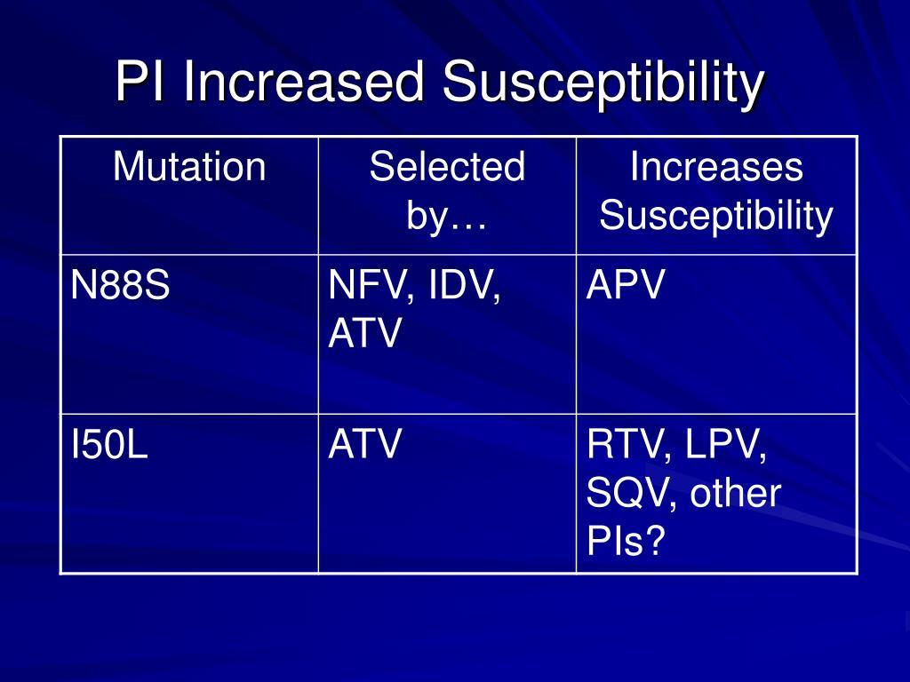 PI Increased Susceptibility