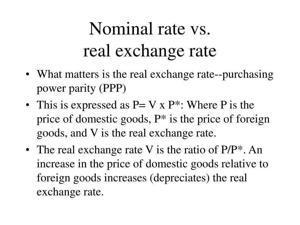 Nominal rate vs.