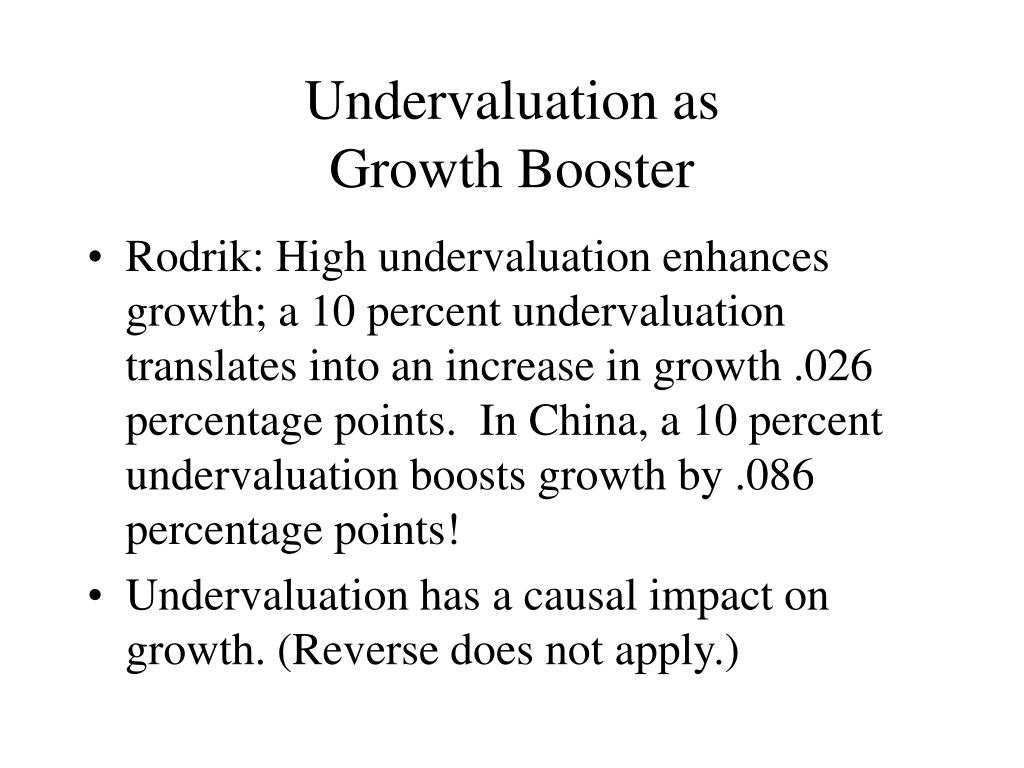 Undervaluation as