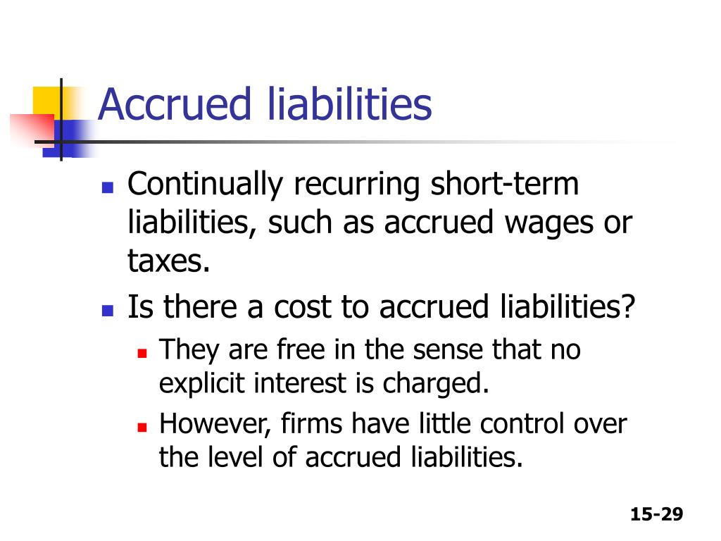 Accrued liabilities