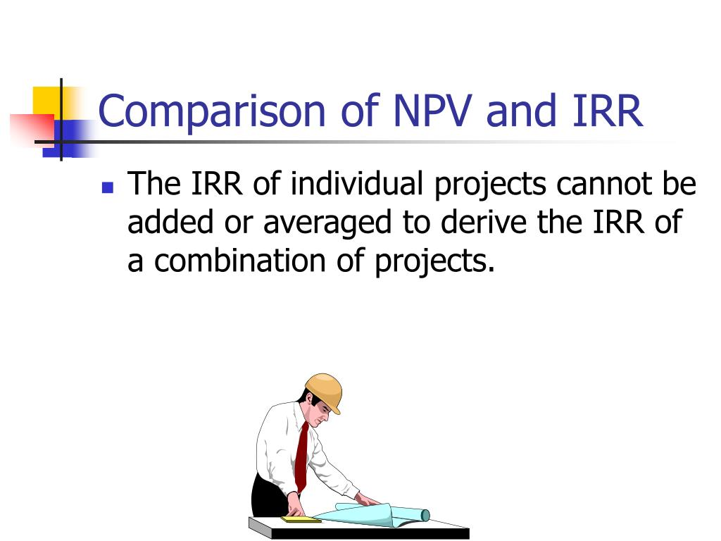Comparison of NPV and IRR