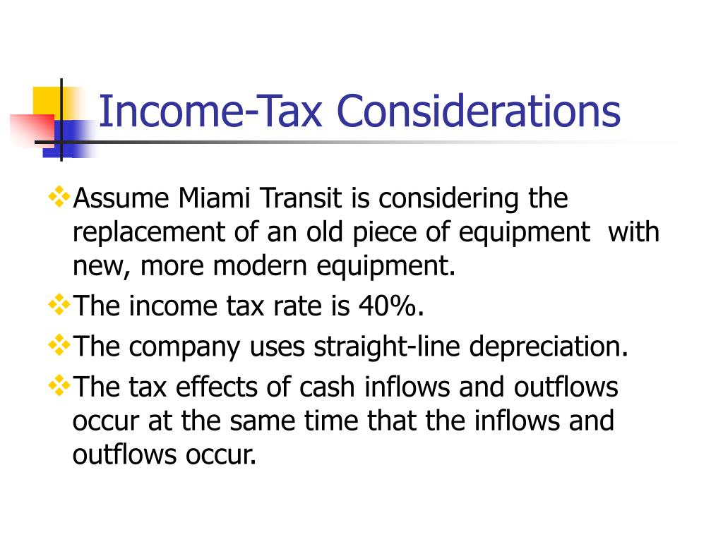 Income-Tax Considerations