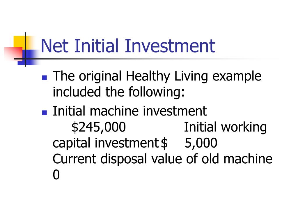 Net Initial Investment