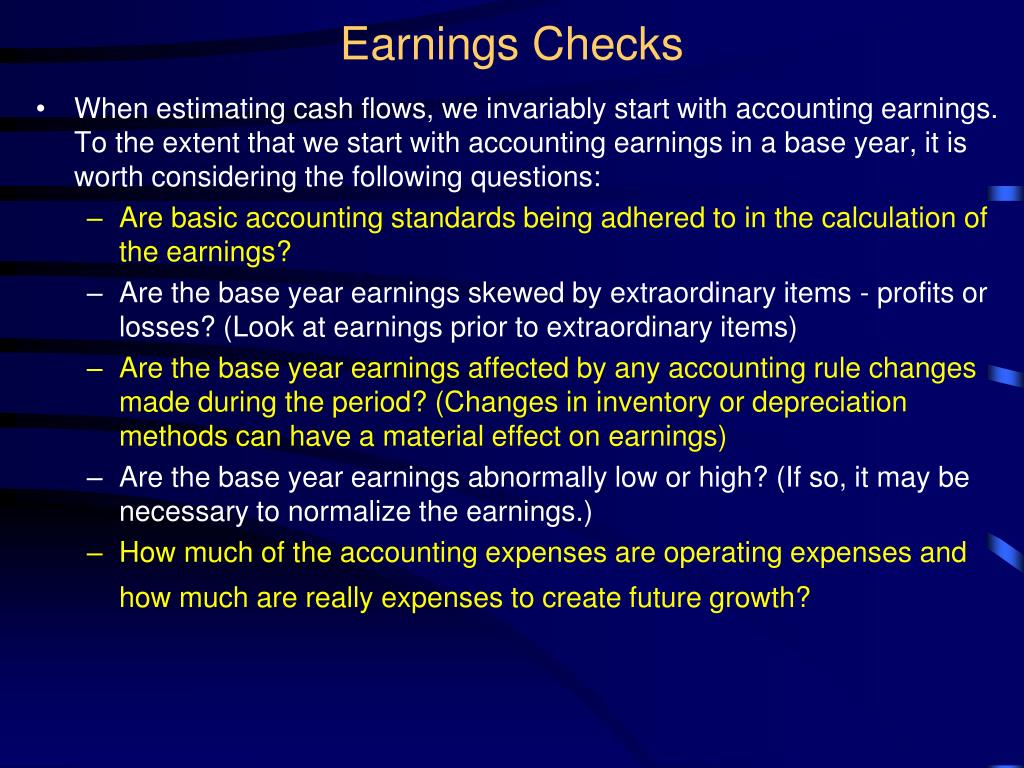 Earnings Checks