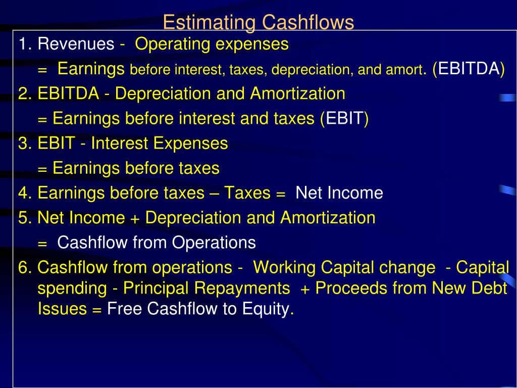 Estimating Cashflows