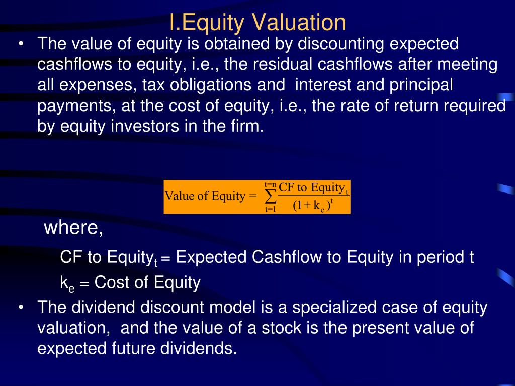 I.Equity Valuation