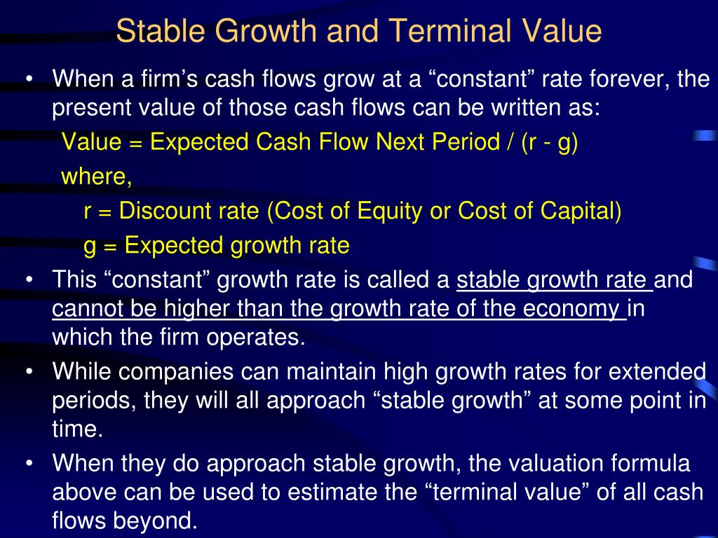 Stable Growth and Terminal Value