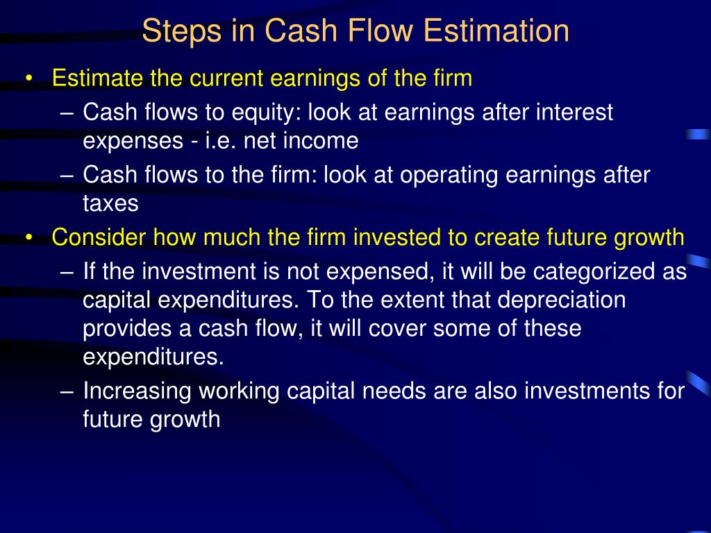 Steps in Cash Flow Estimation