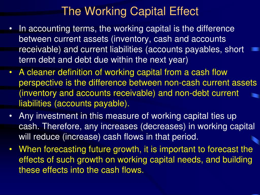 The Working Capital Effect