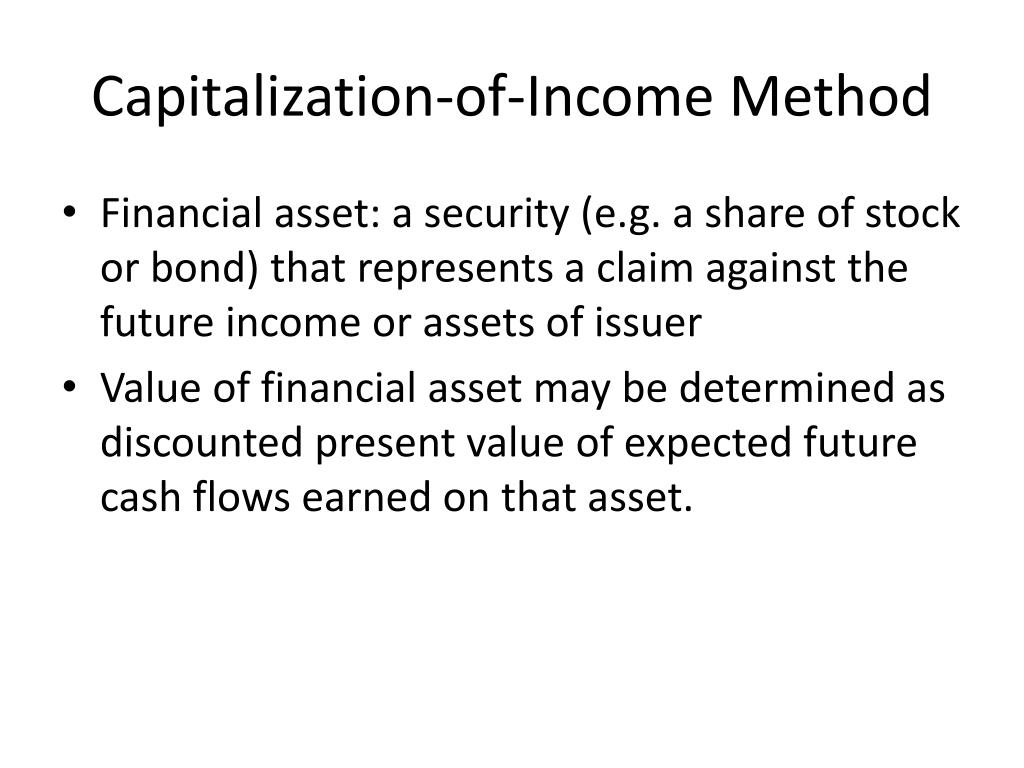 Capitalization-of-Income Method