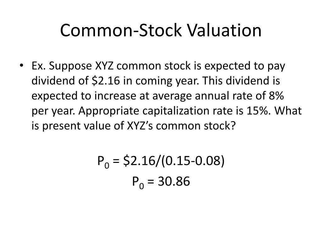 Common-Stock Valuation