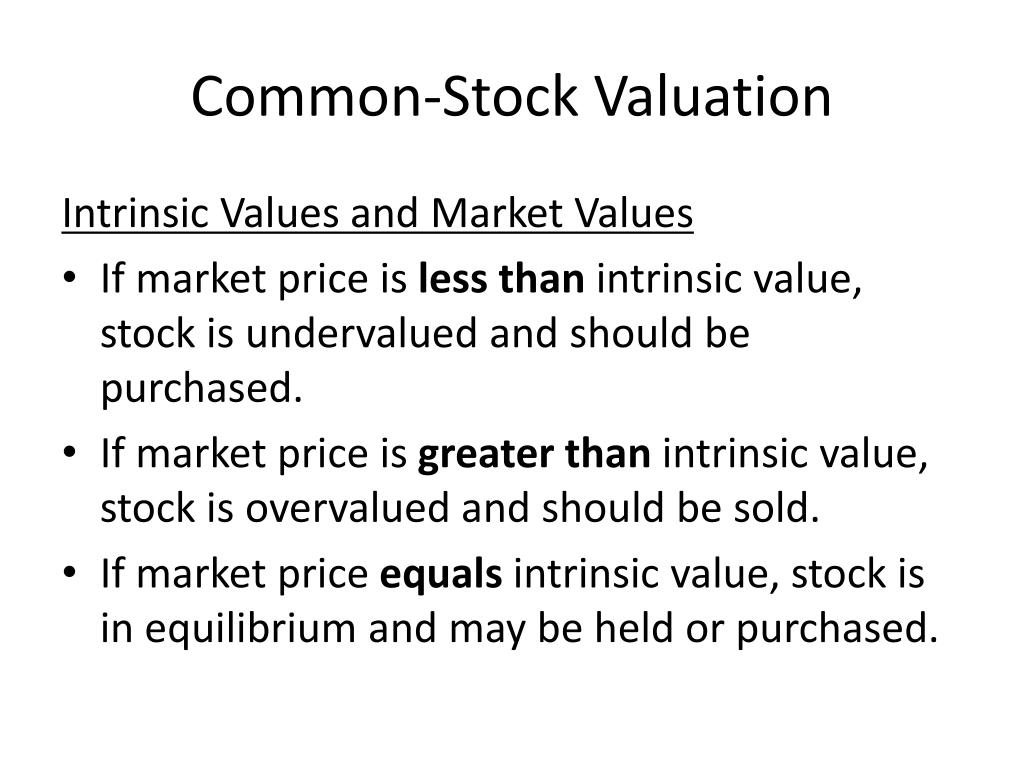 common stock valuation Stock valuation stock features and valuation components of required return.